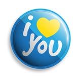 Ti amo bottone Fotografie Stock