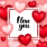 Ti amo carta Immagini Stock