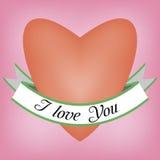 Ti amo cuore Fotografia Stock