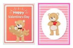 Ti amo e me Teddy Bears Vector Fotografie Stock Libere da Diritti