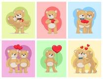Ti amo e me Teddy Bears Vector Fotografia Stock