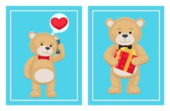 Ti amo e me Teddy Bears Vector Fotografia Stock Libera da Diritti
