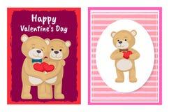 Ti amo e me Teddy Bears Vector Immagini Stock