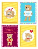 Ti amo e me Teddy Bears Vector Immagini Stock Libere da Diritti