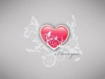 Ti amo - fondo del cuore Fotografie Stock