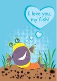 Ti amo, il mio pesce Fotografia Stock Libera da Diritti