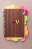 Ti amo, libro dei cuori per il San Valentino Royalty Illustrazione gratis