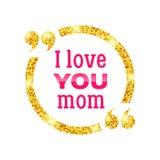 Ti amo mamma Fondo felice di giorno di madre Immagini Stock Libere da Diritti