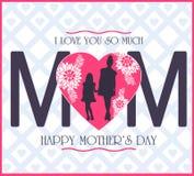 ?ti amo mamma ?, grafici di giorno di madri royalty illustrazione gratis