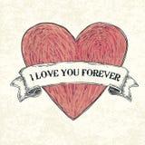 Ti amo per sempre. Immagine Stock