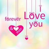 Ti amo per sempre & mai Fotografie Stock