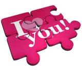 Ti amo puzzle Fotografie Stock