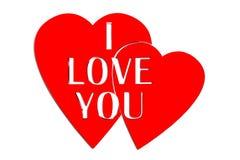 ti amo rosso 3D Fotografia Stock