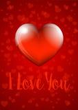 Ti amo - Valentine Heart Card Fotografia Stock