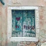 Ti penso, eine Liebesmitteilung Stockfotografie