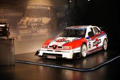 TI V6 DTM d'Alfa Romeo 155 sur l'affichage au musée historique Alfa Romeo photo libre de droits