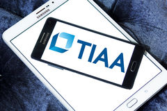 Tiaa-Organisationslogo Stockbild