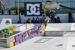 Tiago Lopes during the DC Skate Challenge Stock Images