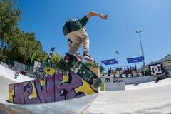 Tiago Lopes durante la sfida del pattino di CC Fotografie Stock
