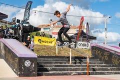 Tiago Pinto under den 1st utmaningen för etappDC-skridsko Royaltyfri Fotografi