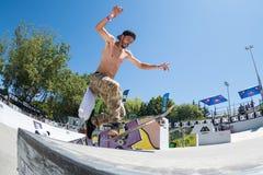 Tiago Xarepe durante la sfida del pattino di CC Fotografia Stock