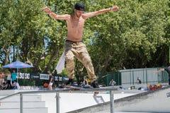 Tiago Xarepe pendant le défi de patin de C.C Images stock