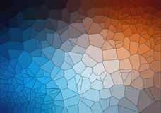 Tial and Orange 2D geometric abstract background. Illustration for web Stock Photography