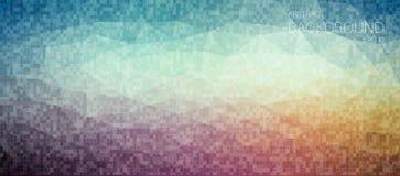 Tial and orange pixelated horizontal background Royalty Free Stock Photography