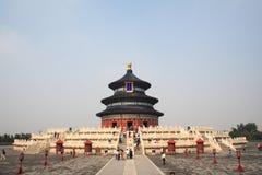 tian天堂棕褐色的寺庙 免版税库存照片