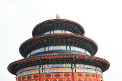 tian天堂棕褐色的寺庙 免版税库存图片