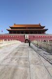 Tian μια πύλη ατόμων του Πεκίνου, Κίνα 02 Στοκ Φωτογραφία