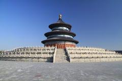 北京天堂tian棕褐色的寺庙 免版税库存照片