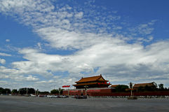 Tian'anmen. Beijing's Tian'anmen, literally, Gate of Heavenly Peace, was the principal entry to the Imperial Palace during the Ming and Qing dynasties in China's Stock Images