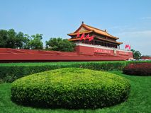 Tian'anMen Gatter in Peking Stockfotos