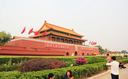 Tian anmen square Stock Photos