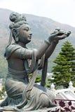 tian buddha Hong Kong solbränt tempel Arkivbild