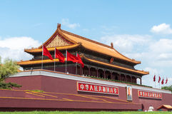 Tian-een-mensen Poort, Peking Stock Foto