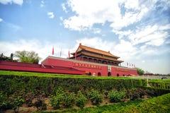 Tian-een-mensen Poort, Peking Stock Afbeelding