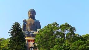 Tian grand Bouddha bronzage au lantau, Hong Kong photographie stock