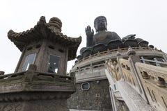Tian grand Bouddha bronzage du monastère de PO Lin Photo libre de droits