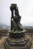 Tian grand Bouddha bronzage du monastère de PO Lin Images libres de droits