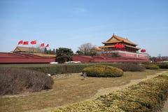Tian Männer unter blauem Himmel Stockfoto