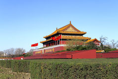 Tian-An-Men Gate.Beijing. The main gate to the  city on Beijing's Tian-An-Men square Stock Images