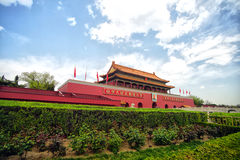 Tian-An-Men Gate, Beijing. Tian'an men the Gate of Heavenly Peace, is located in the center of Beijing stock image