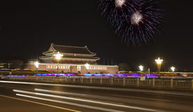 Tian an men  in the holiday Royalty Free Stock Image