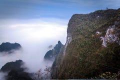 Tian Men Mountains nebuloso em Zhangjiajie Fotos de Stock