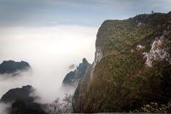 Tian Men Mountains nublado en Zhangjiajie Foto de archivo