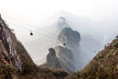 Tian Men Mountains nublado en Zhangjiajie Imágenes de archivo libres de regalías