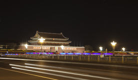 Tian an men  in the night Royalty Free Stock Image