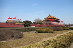 Tian an men under blue sky Stock Photo